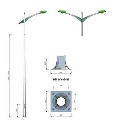 bản vẽ chi tiết cột đèn cao áp pn 06