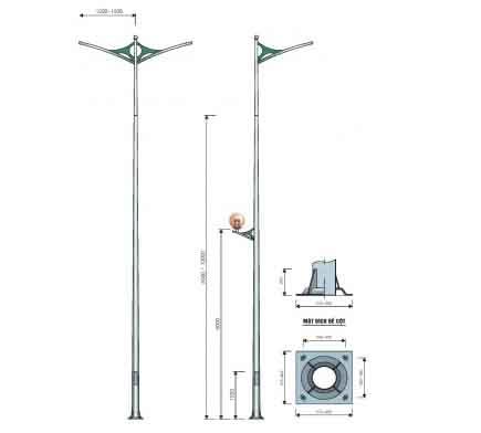 cột đèn cao áp pn 07