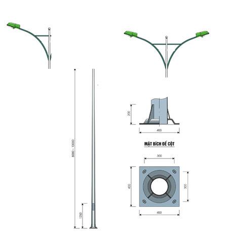 bản vẽ chi tiết cột đèn cao áp pn 02