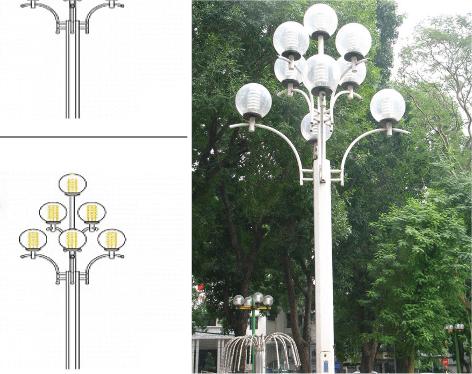 cột đèn sân vườn dc 20