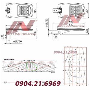 Chi tiết thông số kỹ thuật đèn đường led PNL 11