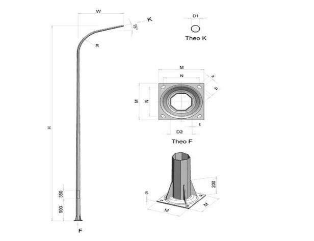Phan Nguyễn chuyên cung cấp Cột đèn cao áp Ninh Thuận chất lượng, giá tốt