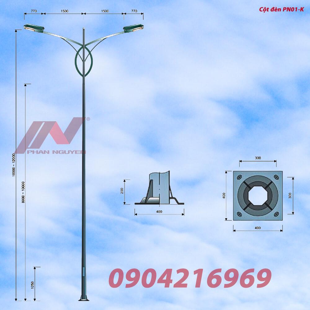 Cột đèn cao áp, trụ đèn chiếu sáng tại Kiên Giang được sản xuất bởi Phan Nguyễn