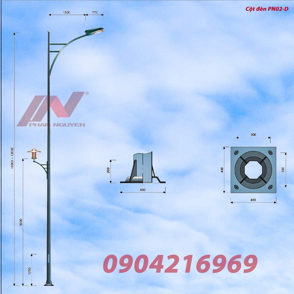 Cột đèn cao áp đạt tiêu chuẩn tại Đồng Tháp được phân phối bởi Phan Nguyễn