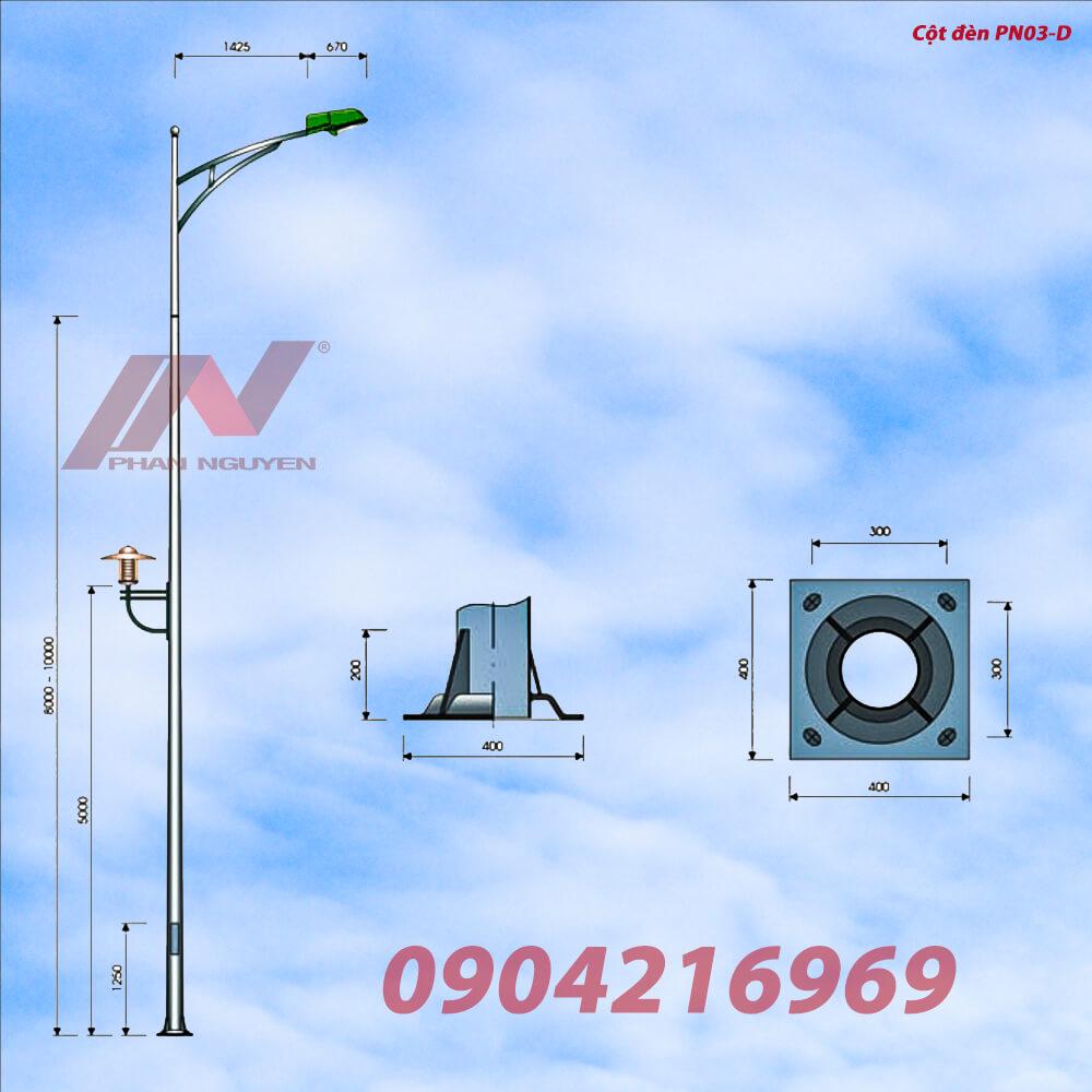 Địa chỉ cung cấp Cột đèn cao áp, Trụ đèn cao áp tại Lâm Đồng đạt tiêu chuẩn chất lượng