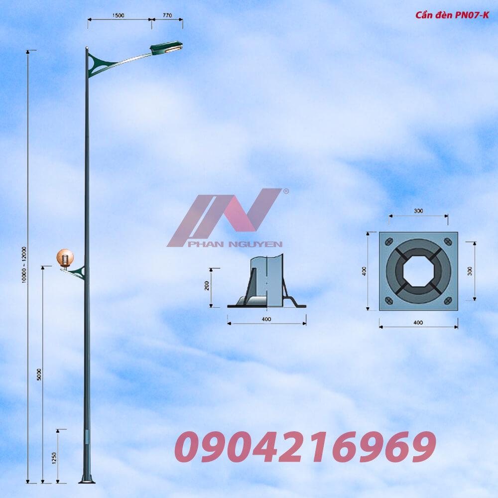 Cột đèn cao áp, trụ đèn chiếu sáng chất lượng tại Long An sản xuất và phân phối bởi Phan Nguyễn