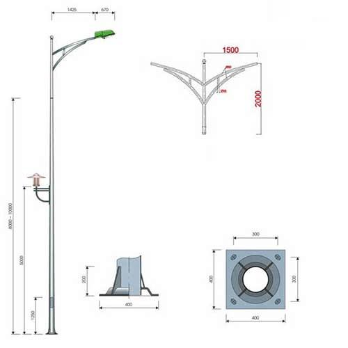 Phan Nguyễn địa Mua cột đèn cao áp, trụ đèn đạt tiêu chuẩn, giá tốt tại Khánh Hòa