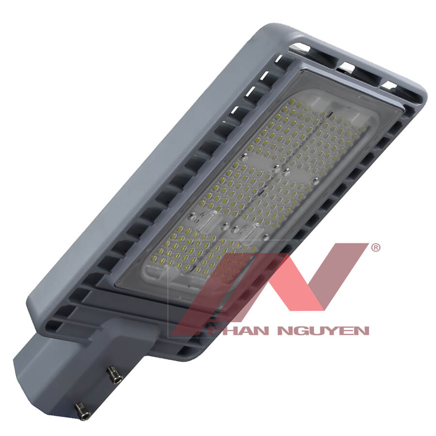 Cấu tạo của đèn đường LED gồm: Chip LED, bộ nguồn và bộ phận tản nhiệt.